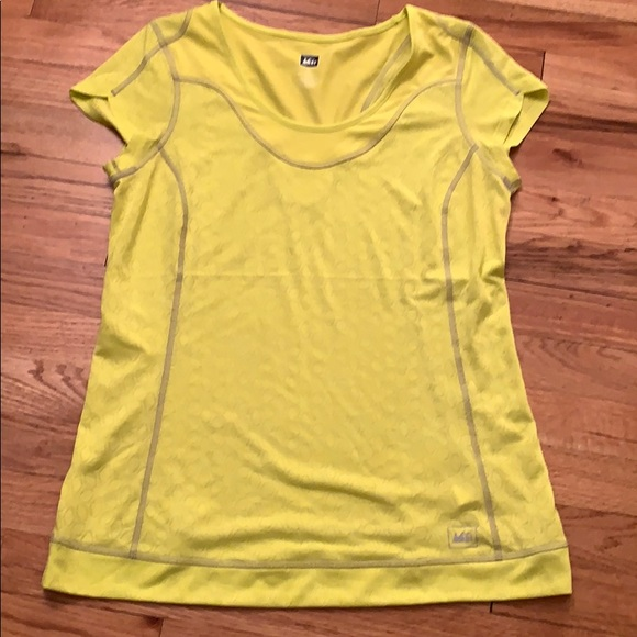 REI Tops - REI athletic shirt - yellow- size L